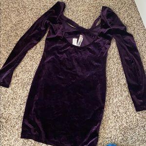 Dresses - Velvet royal purple dress